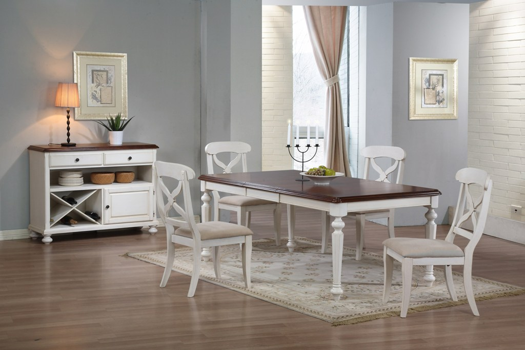 Image of: White Dining Table And Chairs