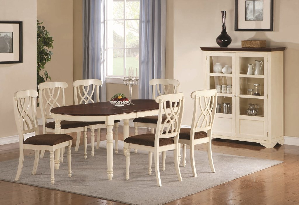 Image of: White Dining Table Benches