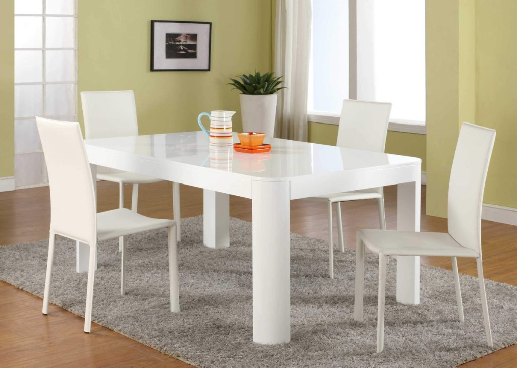 Image of: White Dining Table Set