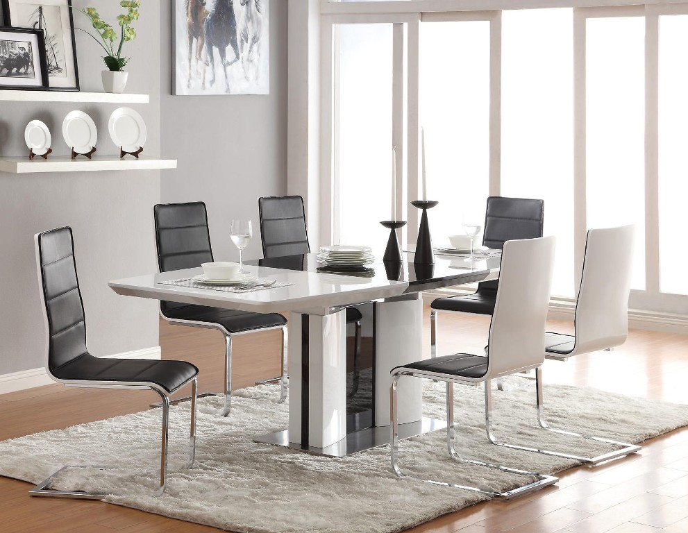 Image of: White Dining Table With Wood Top