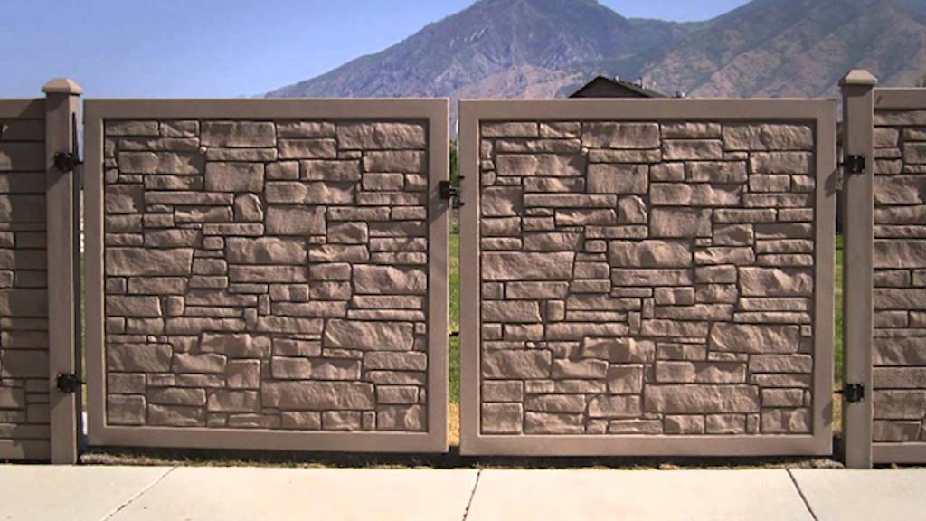 Image of: 6×6 Ecostone Fence Panel
