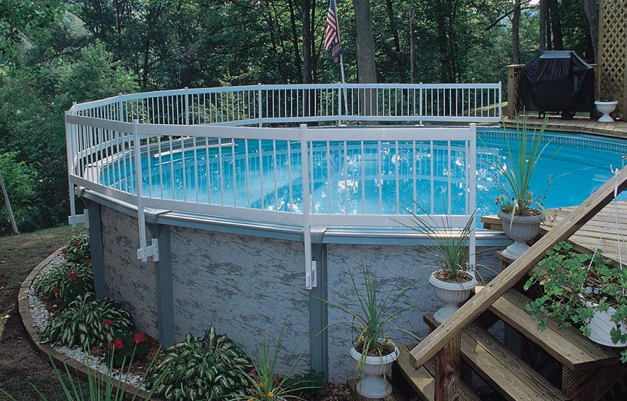 Image of: Above Ground Pool Fence Kits