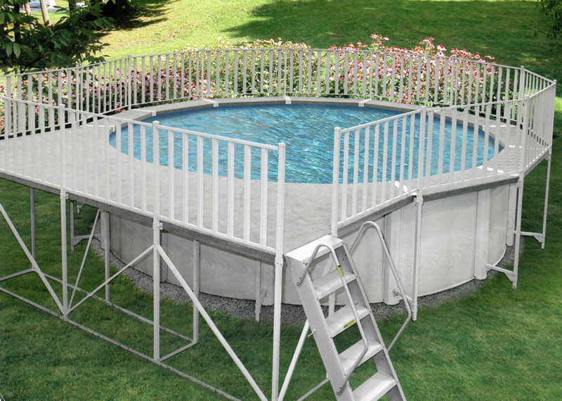 Image of: Above Ground Pool Fence Round