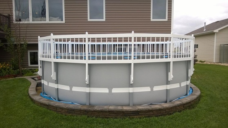 Image of: Above Ground Pool Fence Small