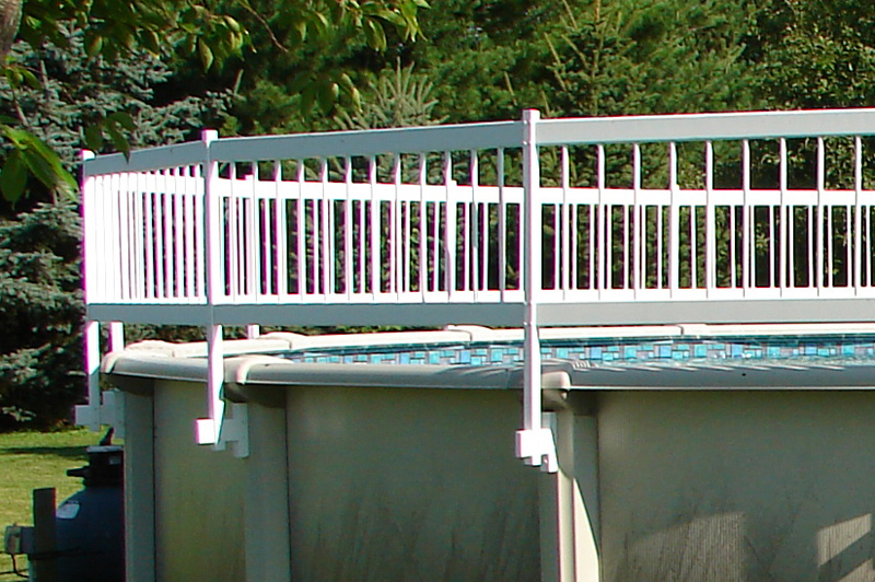 Image of: Above Ground Pool Fence Type