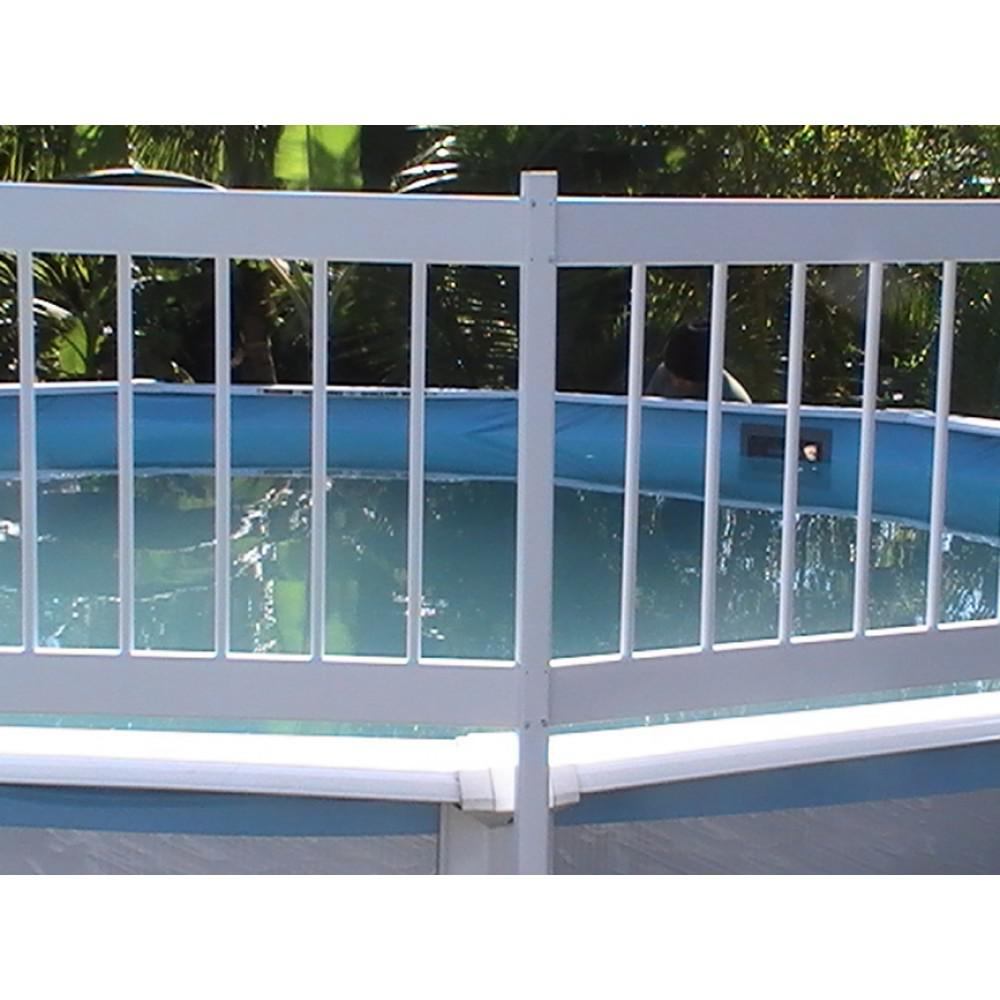 Image of: Above Ground Pool Fence White