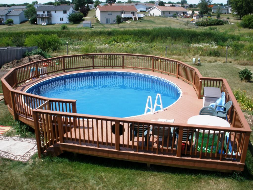 Image of: Above Ground Pool Fence Wooden
