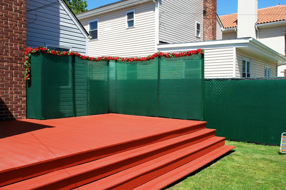 Image of: Awesome Chain Link Fence Slats