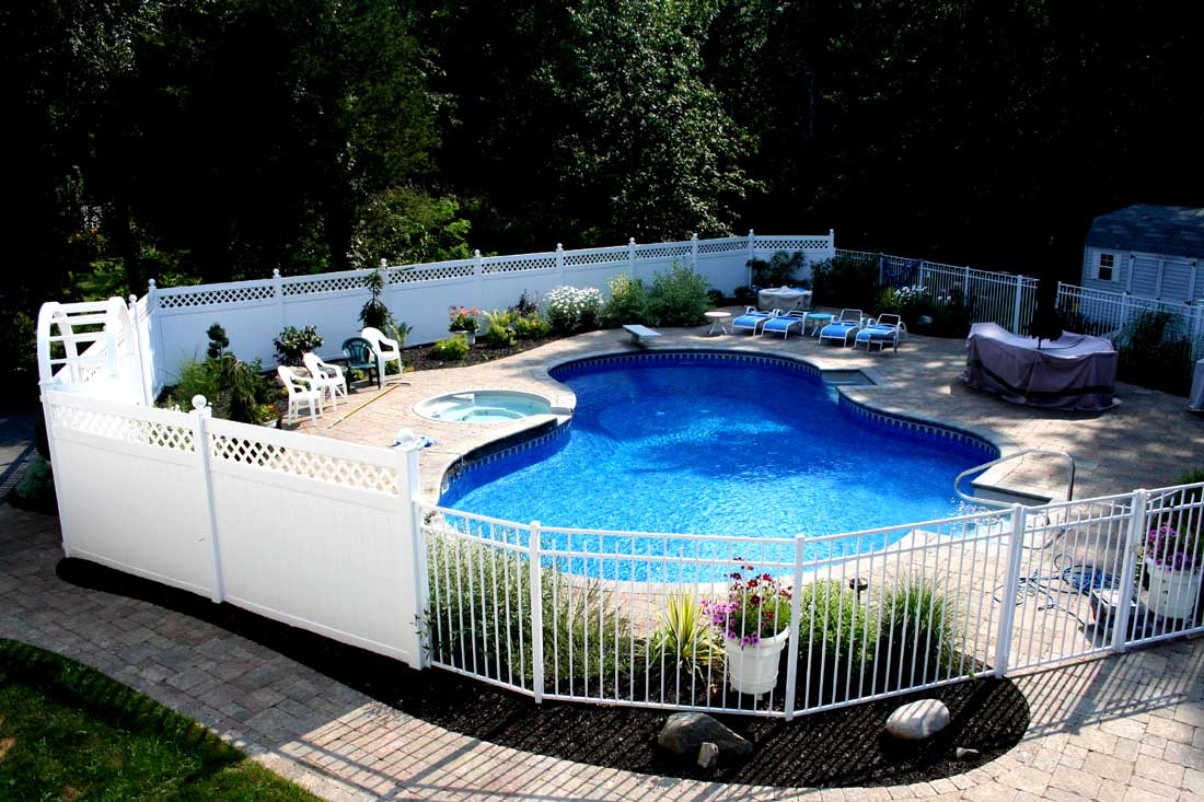 Image of: Awesome Pool Fencing Ideas