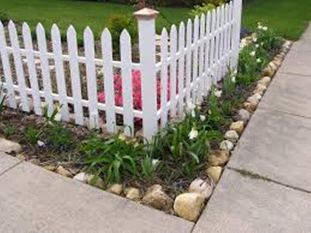 Backyard Corner Fence Landscaping