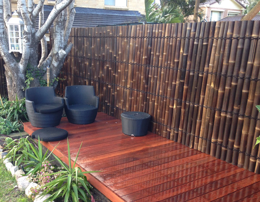 Image of: Bamboo Fence Color
