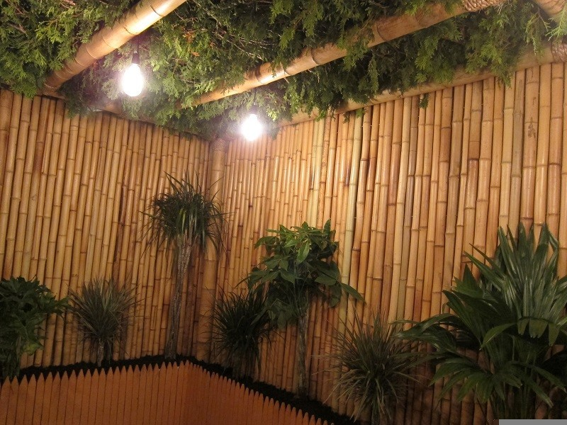 Bamboo Fence Lamps