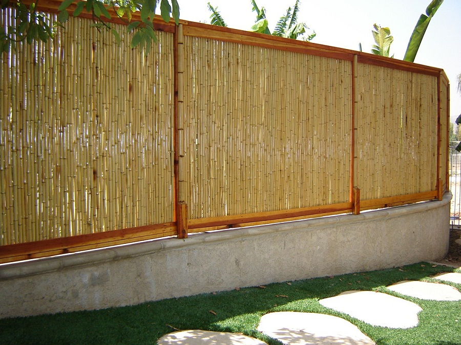Image of: Bamboo Fence Natural