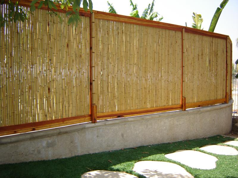 Image of: Bamboo Fence Panels Frame