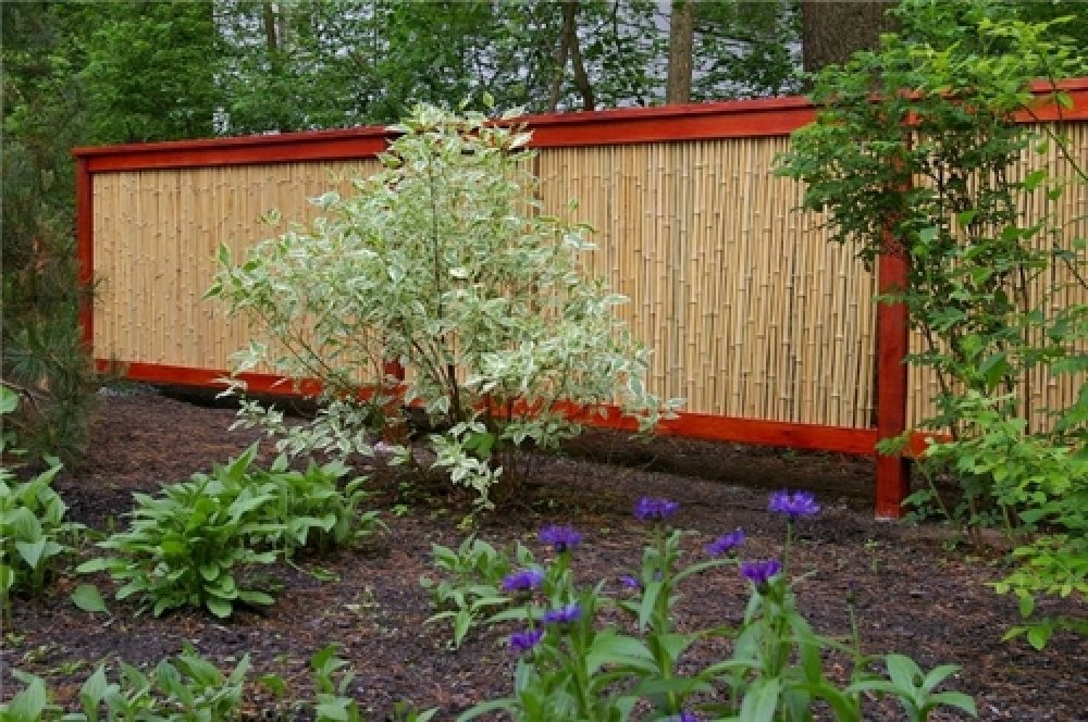 Image of: Bamboo Fence Panels Large