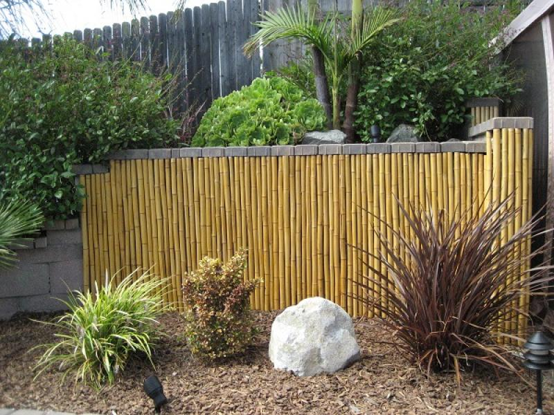 Image of: Bamboo Fence Panels Natural