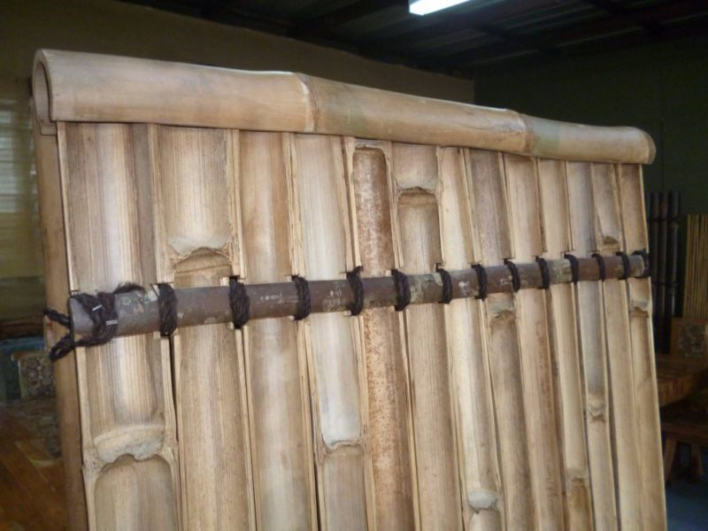 Image of: Bamboo Fence Panels Simple