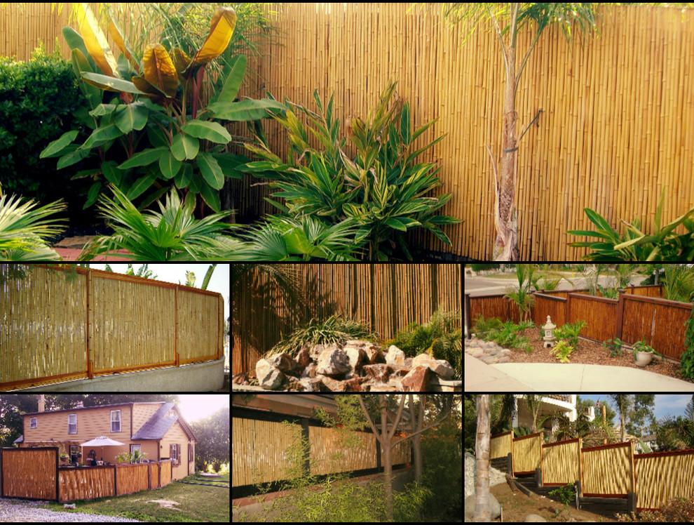 Bamboo Fencing Rolls Spaces