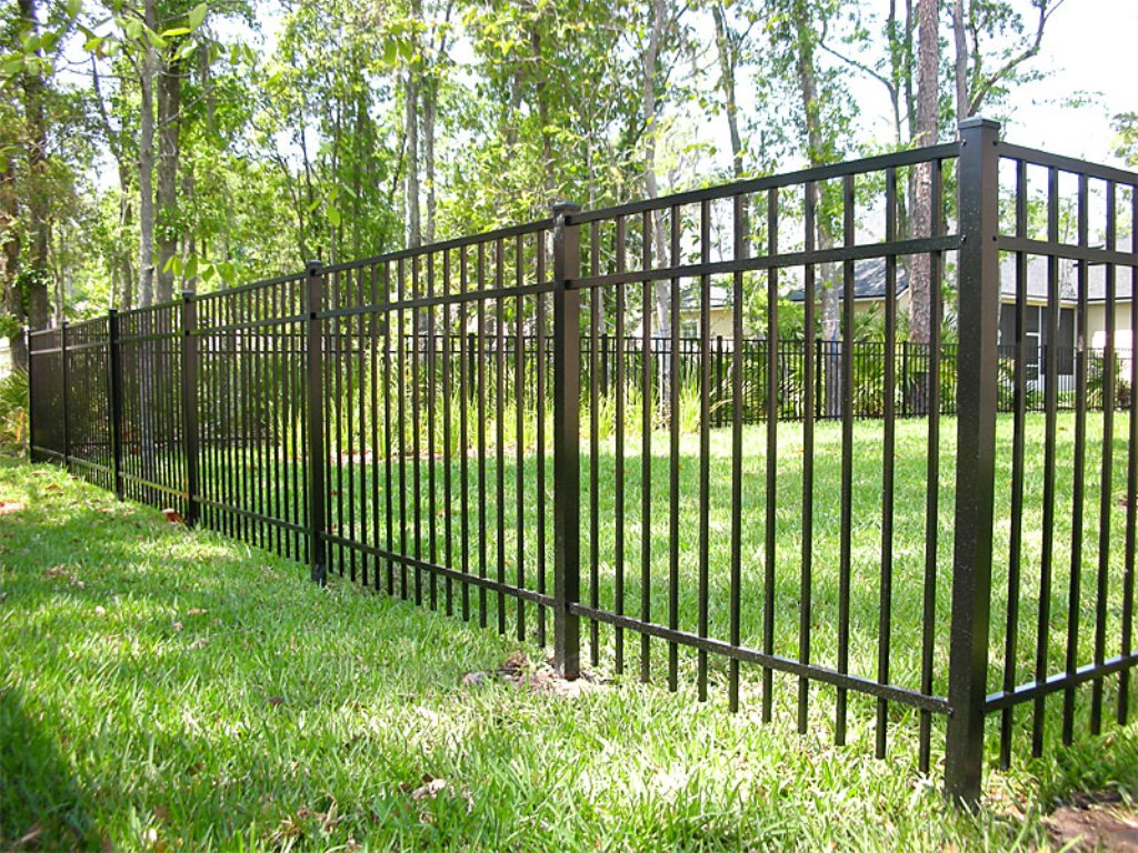 Image of: Black Aluminum Fence Parts