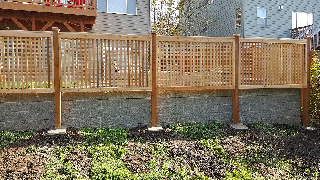 Image of: Black Privacy Fence Panels