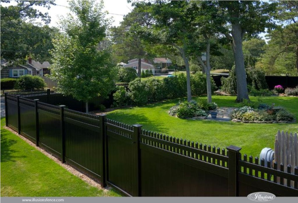 Image of: Black Vinyl Fence Parts