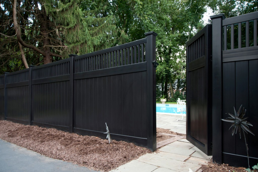 Image of: Black Vinyl Fence Post Caps Idea