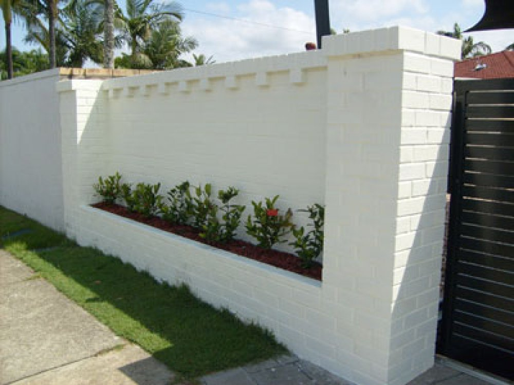 Image of: Brick Fence White
