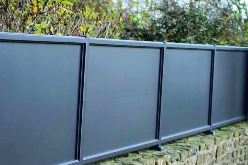 Image of: Brown Aluminum Fence Panels