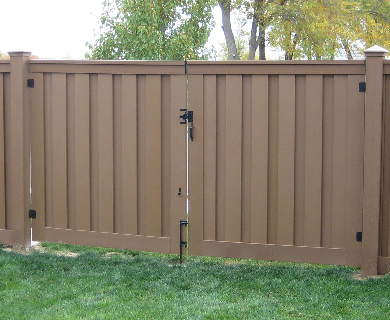 Image of: Brown How To Build A Fence Gate