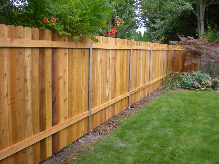 Image of: Cedar Fence Panels Designs
