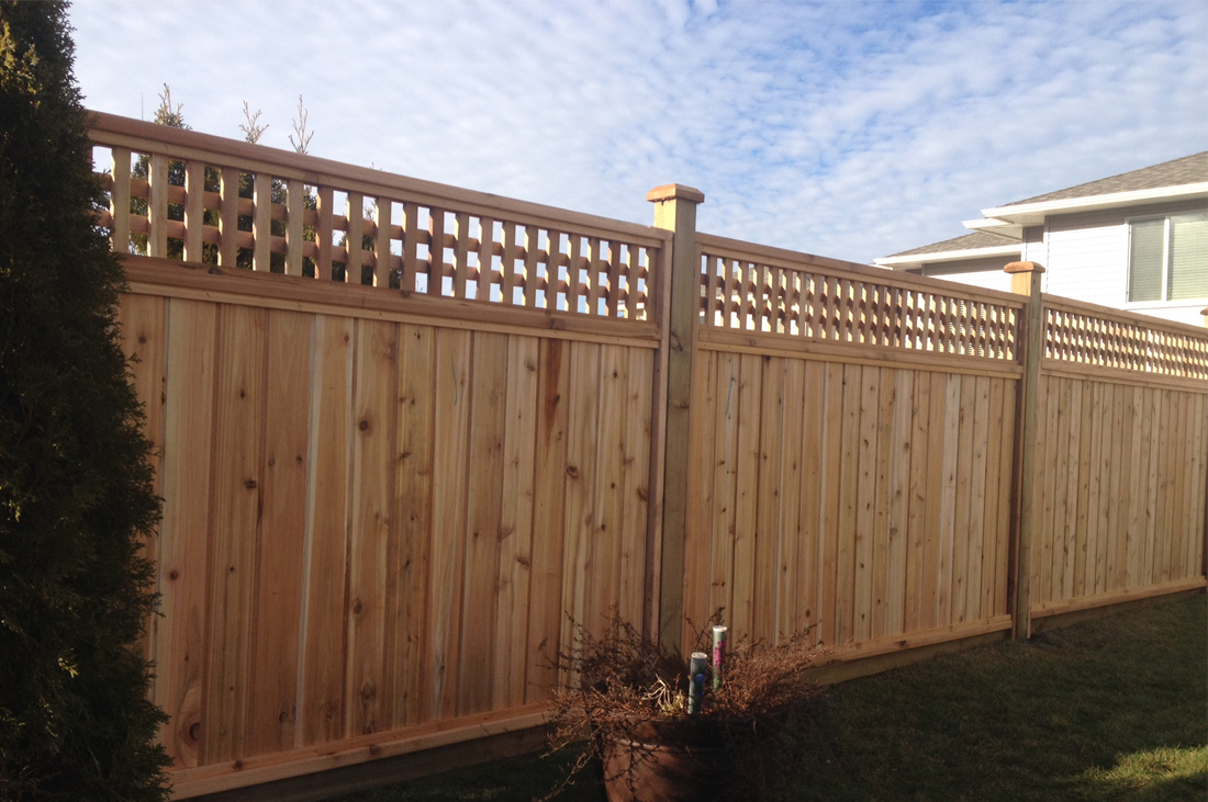 Image of: Cedar Fence Panels Images