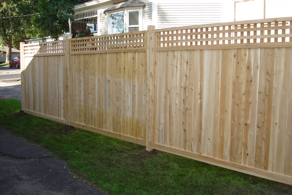 Image of: Cedar Fence Panels Style