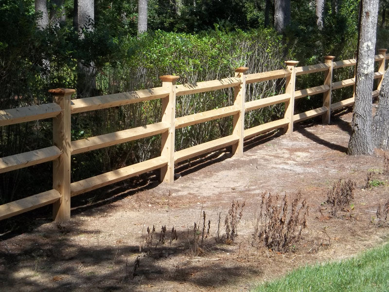 Image of: Cedar Fence Posts Rail