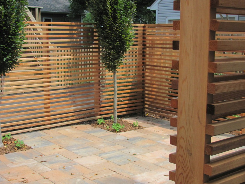 Image of: Cedar Fencing Design