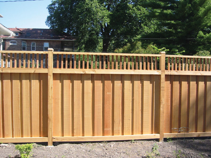 Image of: Cedar Fencing Option