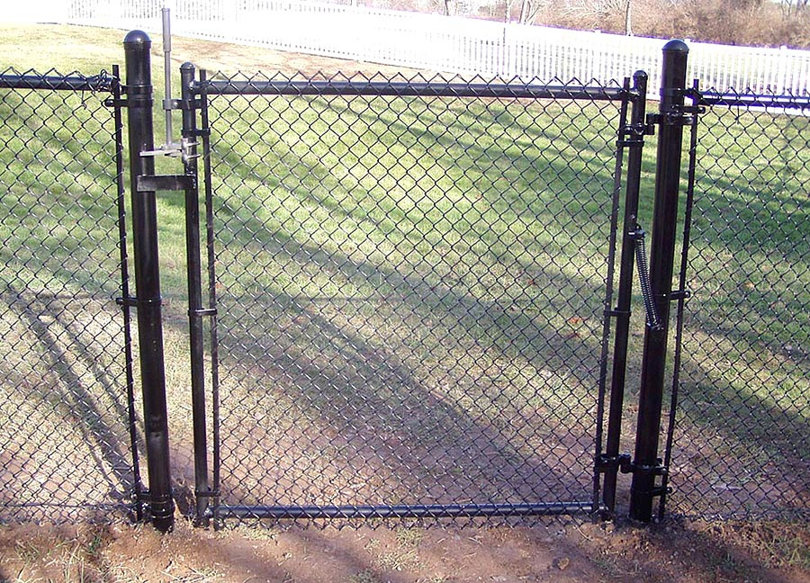 Image of: Chain Link Fence Gate Latch