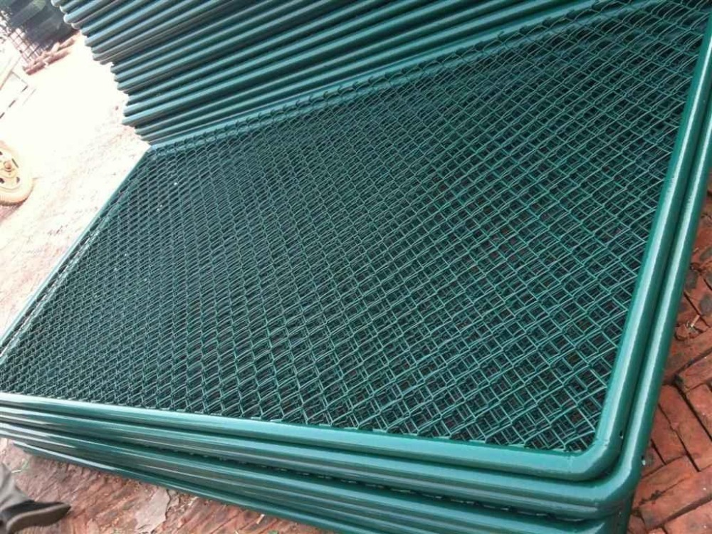 Chain Link Fence Panels Green