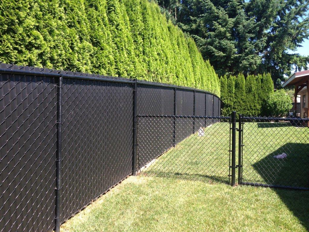 Image of: Chain Link Fence Parts Black