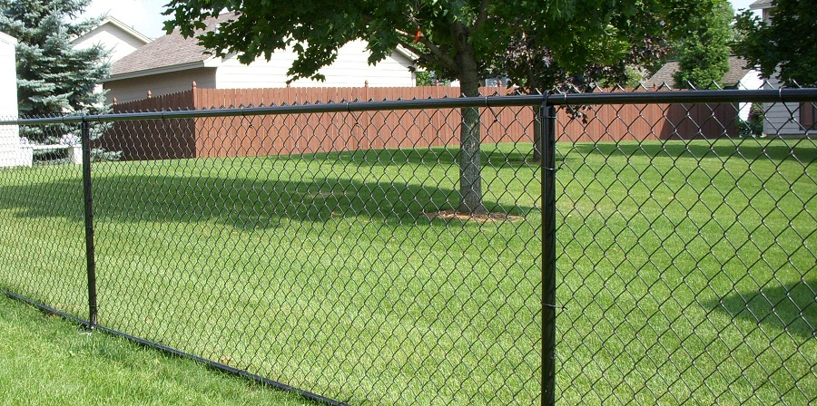 Image of: Chain Link Fence Parts Exterior
