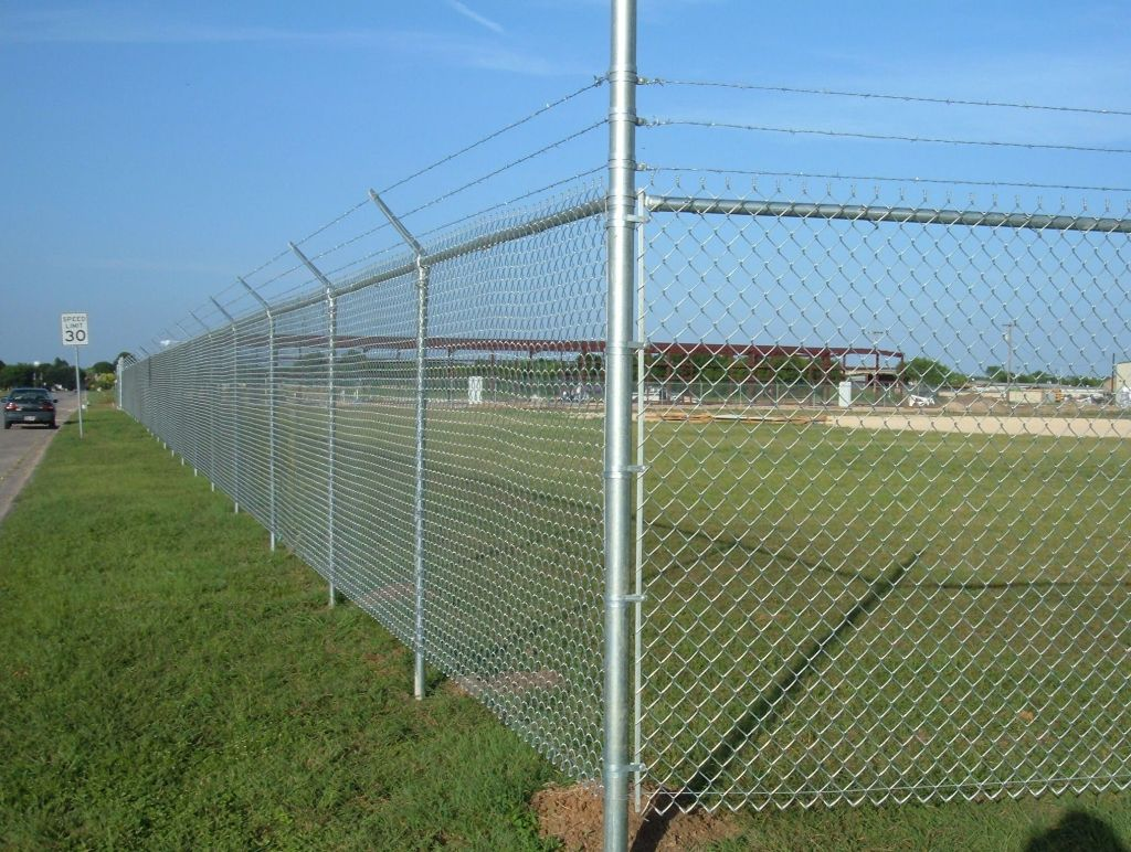 Image of: Chain Link Fence Parts Install