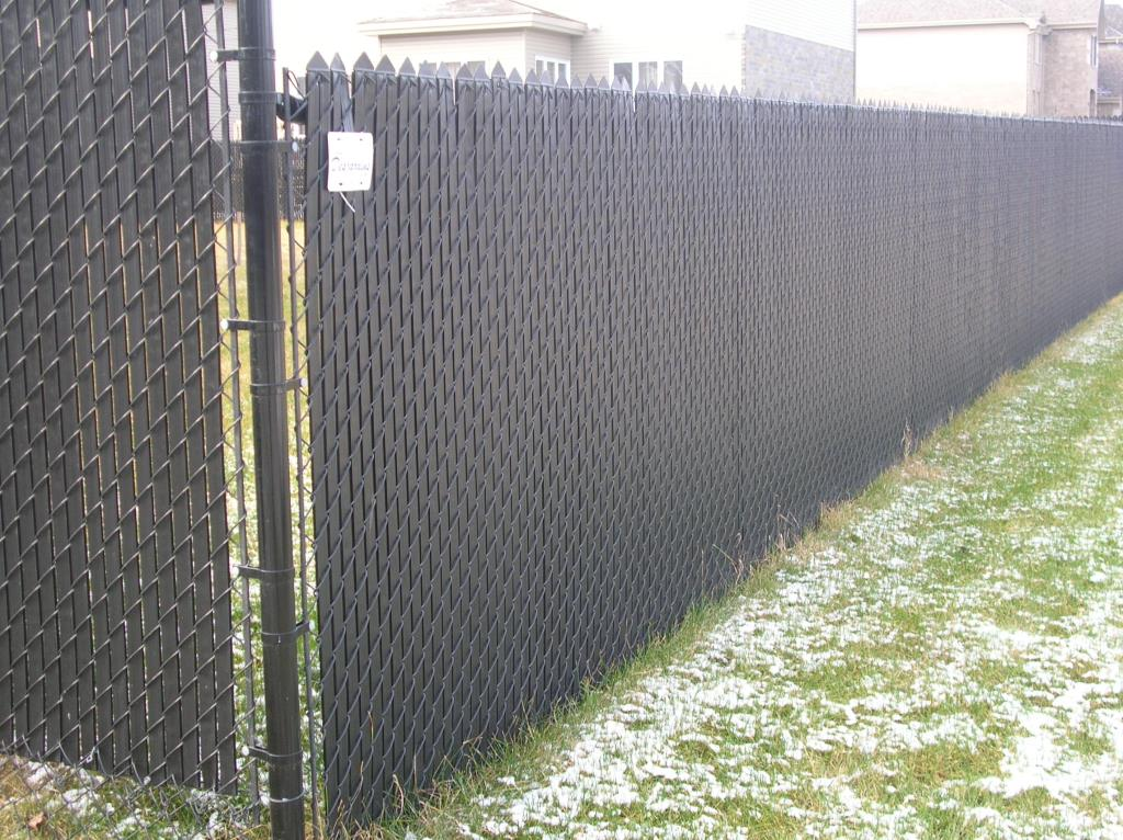 Image of: Chain Link Fence Slats Image