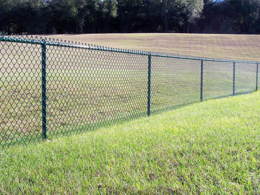 Image of: Chain Link Fencing Colors
