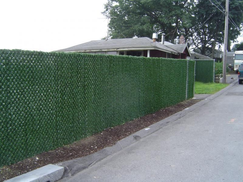 Image of: Chain Link Fencing Cover