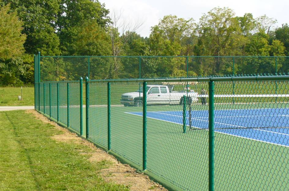Image of: Chain Link Fencing Green