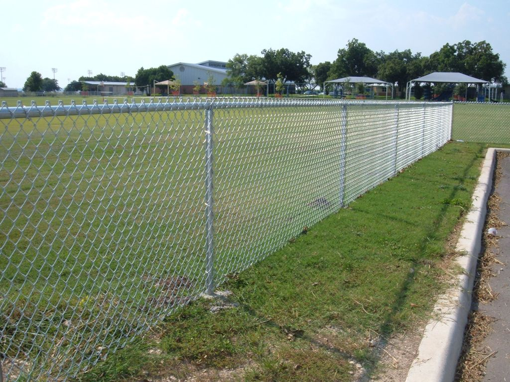 Image of: Chain Link Fencing White