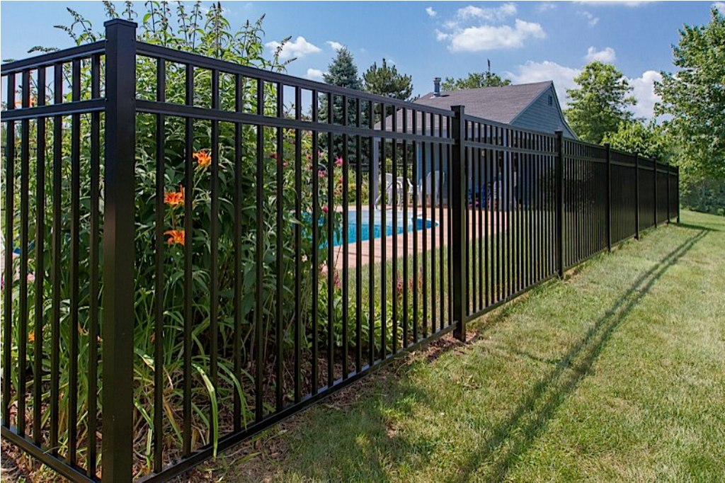 Image of: Charlotte Black Aluminum Fence