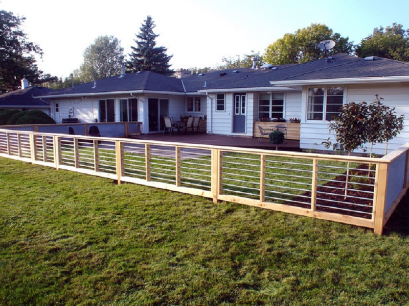 Image of: Cheap Fence Ideas Plan