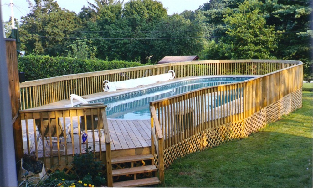 Image of: Cheap Pool Fencing Ideas