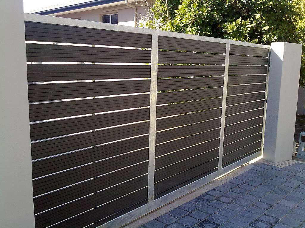 Image of: Contemporary Composite Fence Panels