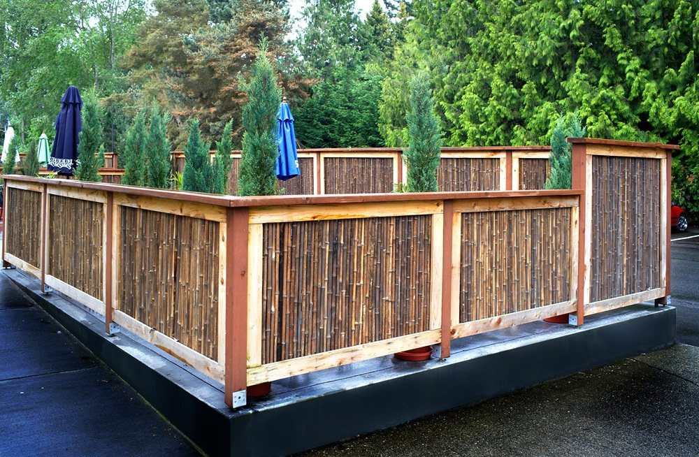 Image of: Cool Bamboo Fencing Rolls